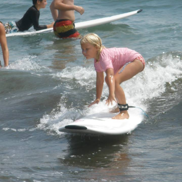 Ohana surf camps teach kids of 5 and older how to surf and take care of the ocean. Photo credits to Ohana Surf Shop Facebook.