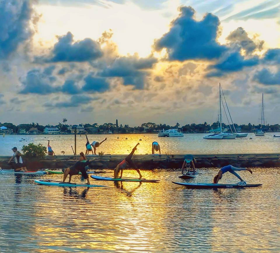 Sunset Stand Up Paddle-boarding Yoga Event Martin County