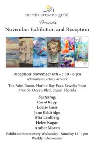 Martin Artisans Guild at the Palm Room