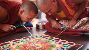 Mandala Sand Painting at Marker 23 Art Gallery