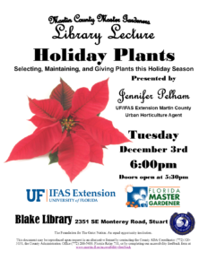 Holiday Plants: Selecting, Maintaining, and Giving Plants this Holiday Season