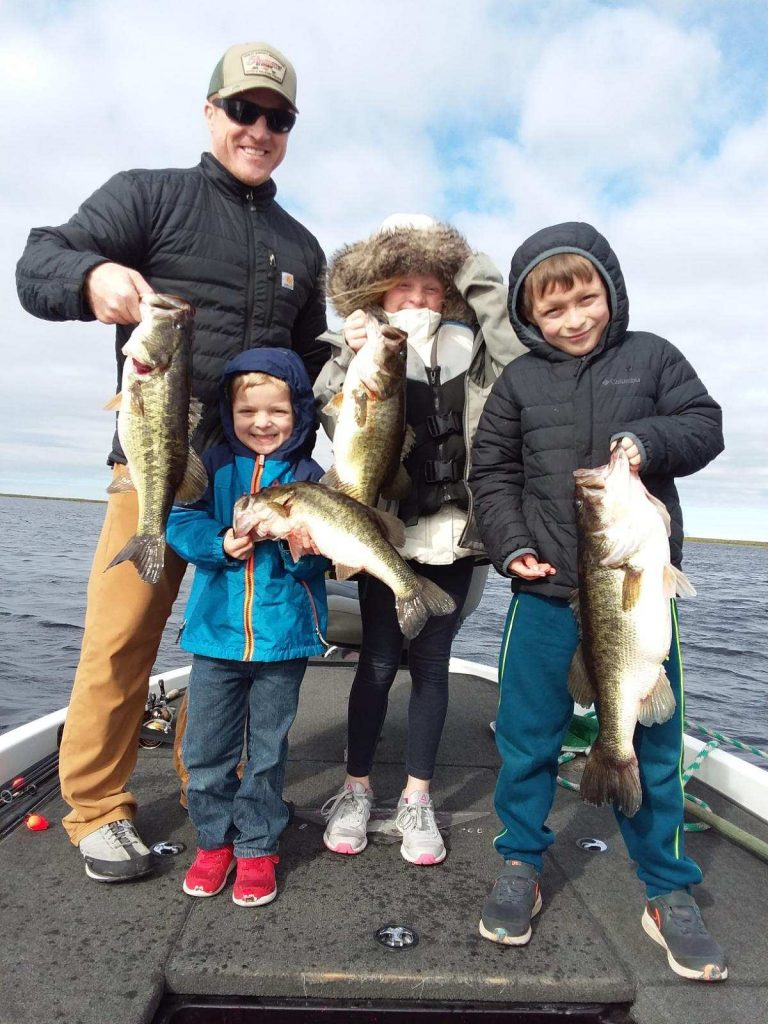 The Johnston family from Kentucky on Lake Okeechobee